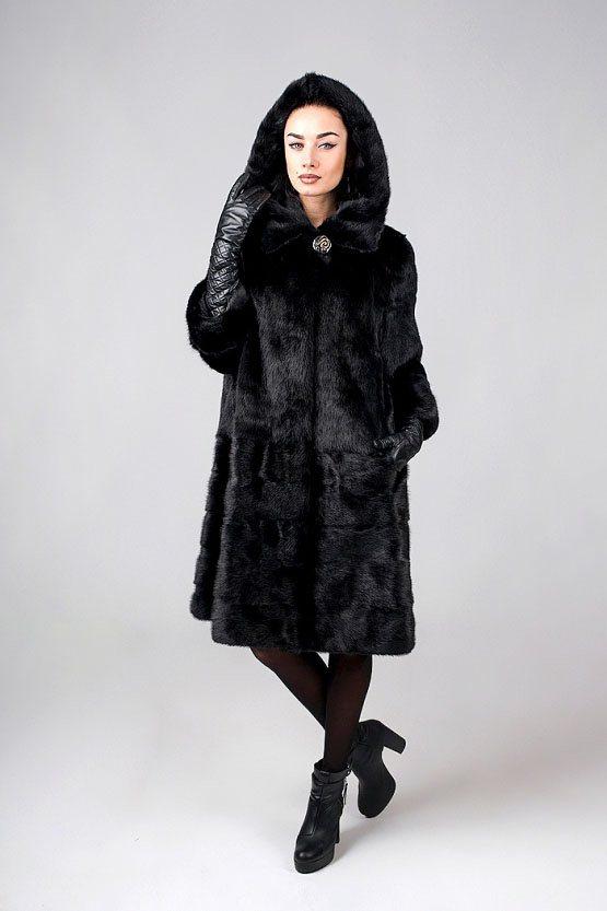 Норковая шуба 548 (черная)