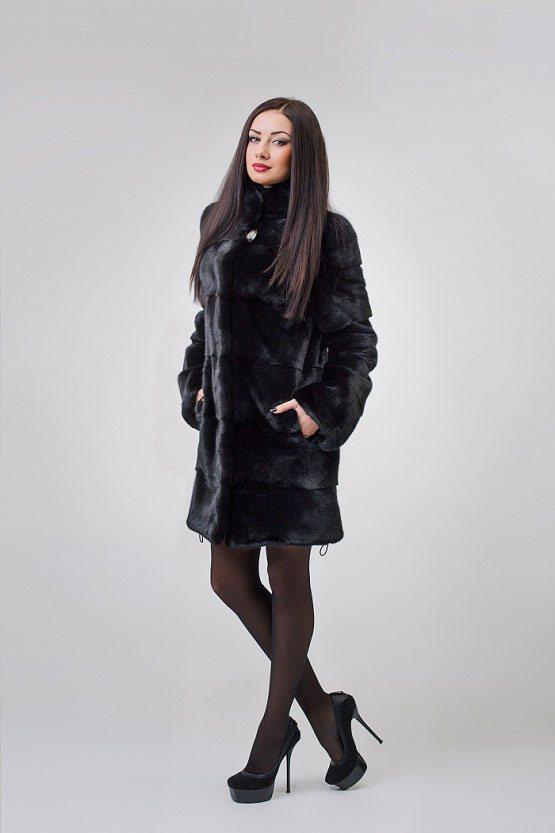 Норковая шуба 593 (black)